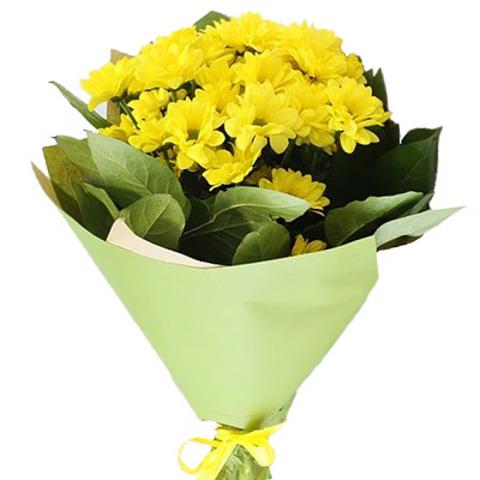 3 кустовые хризантемы в оформлении #30251