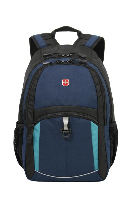 Городской рюкзак WENGER, 45х33х15 см., 22 л., цвет синий/черный/бирюзовый (3191203408) - Wenger-Victorinox.Ru