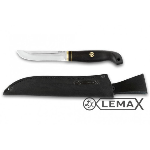 Нож Рыбак, 95Х18, чёрный граб.