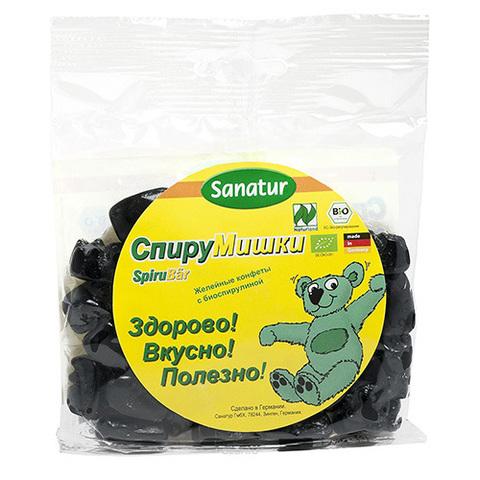 САНАТУР Желейные конфеты «СПИРУМИШКИ» с биоспирулиной, 100 г