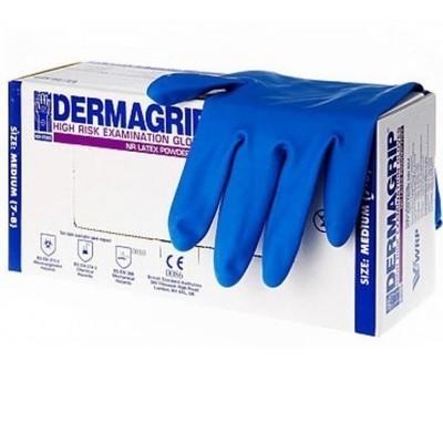 Перчатки DERMAGRIP HIGH RISK, повышенной прочности, неопудренные, 25 пар/упак