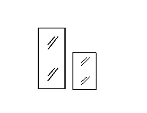 С-2 Дверь стеклянная (362х4х1150)