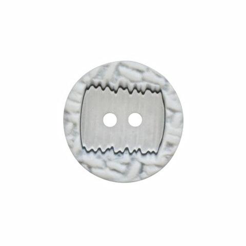 Пуговица Белый+серый
