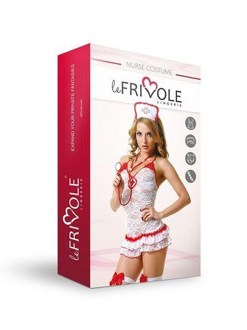 Эротический костюм для ролевых игр Le Frivole Медсестры кружевной, размер L