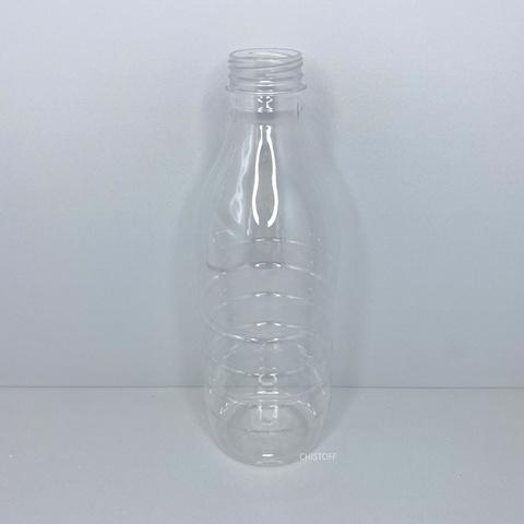 Бутылка 1 л с широким горлом ø 38 мм прозрачная