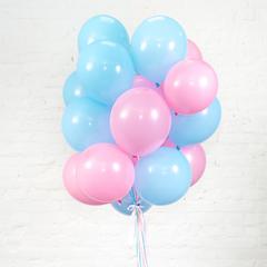 Букет из 15 шаров (Голубой и розовый)