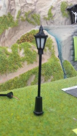 Фонарь парковый  7 см, 3 V (HO/TT)