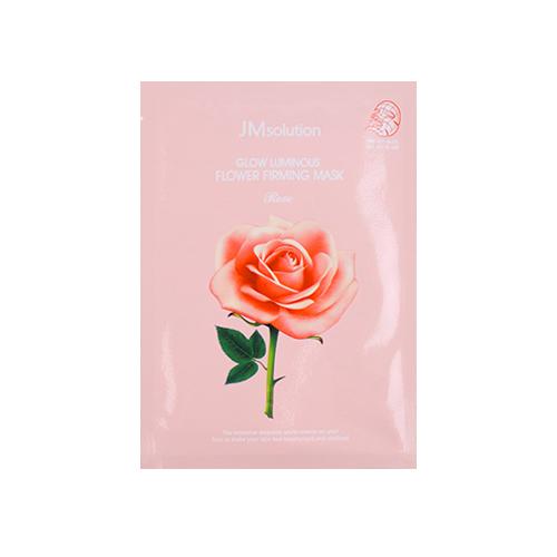 Тканевая маска с экстрактом дамасской розы для естественного сияния лица JMsolution Glow Flower Firming Mask Rose