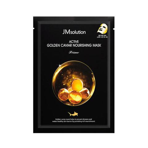 JMsolution Active Golden Caviar Nourishing Mask Prime ультратонкая тканевая маска с золотом и икрой