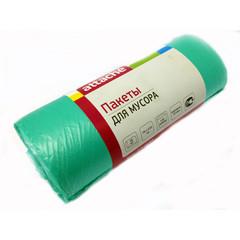 Мешки для мусора на 120 литров Attache зеленые (25 мкм, в рулоне 20 штук, 70x110 см)