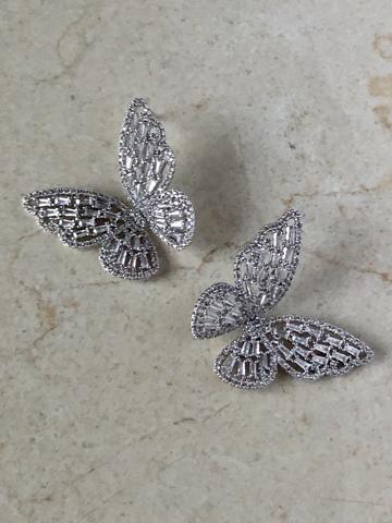 Серьги Ла Фарвалла, серебряный цвет