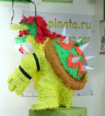 пиньята дракон из игры Марио -  Боузер - пиньята на заказ , изготовление за 1 день  mir-pinata.ru