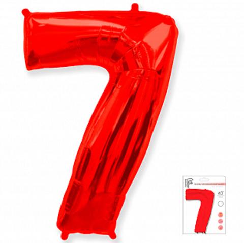 Цифра семь- красная