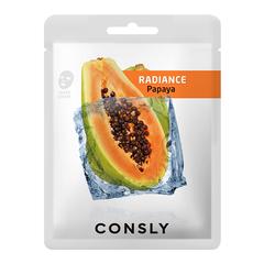Consly - Тканевая маска с экстрактом папайи, 20мл