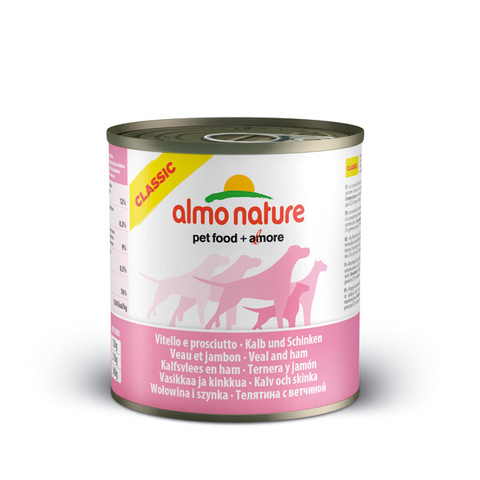 Консервы (банка) Almo Nature Classic Veal&Ham