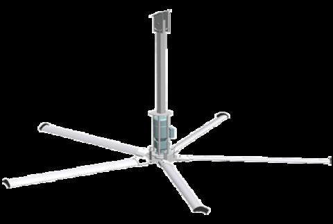 5 метров, 5 лопастей | Вентилятор потолочный для коровников