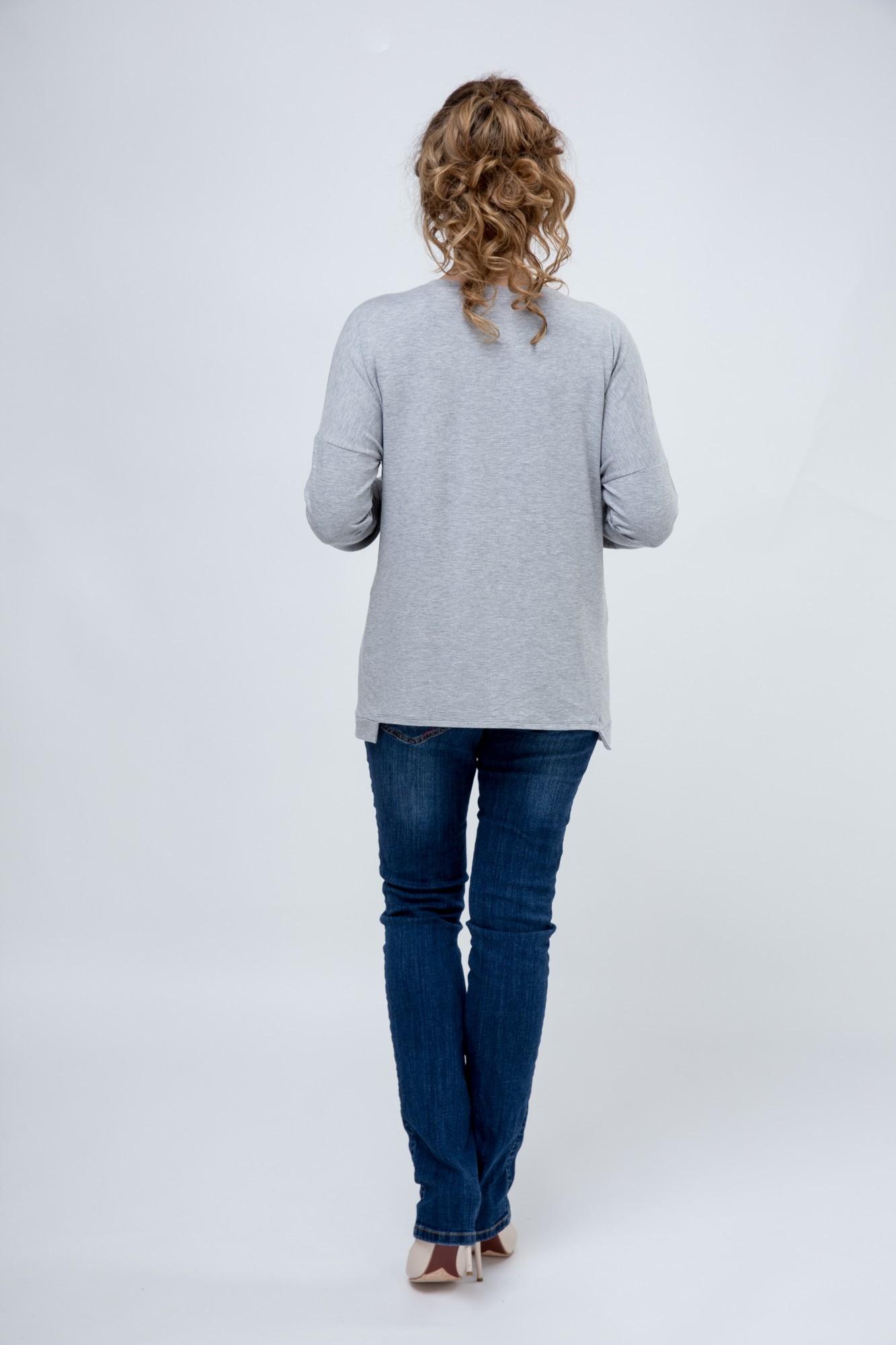 Джемпер для беременных 09136 серый