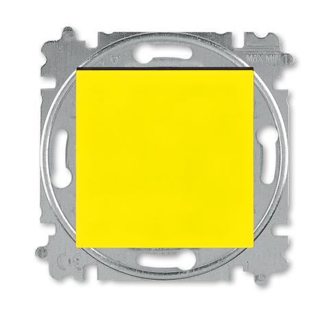 Выключатель одноклавишный. Цвет Жёлтый / дымчатый чёрный. ABB. Levit(Левит). 2CHH590145A6064