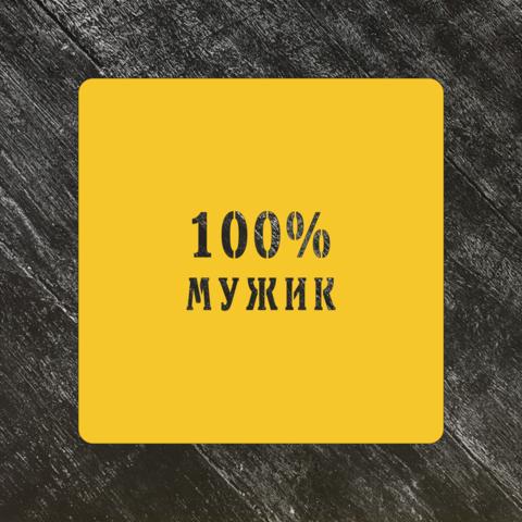Трафарет 23 февраля №14 100% мужик