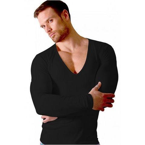 Мужская футболка с длинным рукавом Doreanse черная 2920