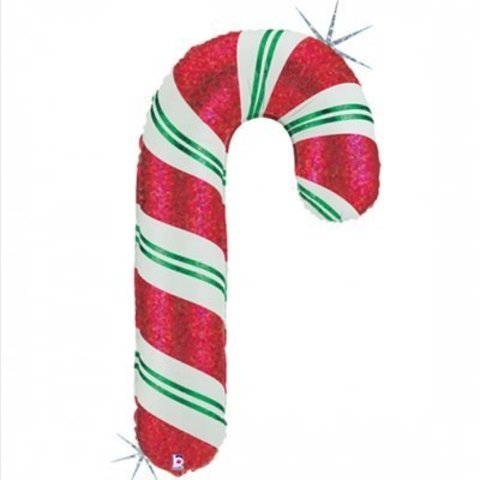 Воздушный шар Трость леденец новогодний, 104 см