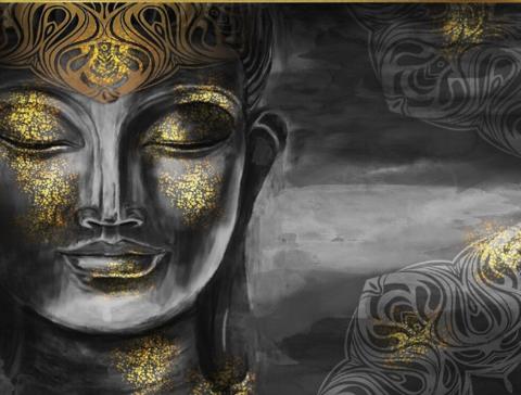 Алмазная Мозаика 40x50 Голова Будды (арт. SGJ75176)