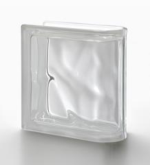 Торцевой стеклоблок бесцветный волна Vetroarredo Neutro TER Lineare O 19x19x8