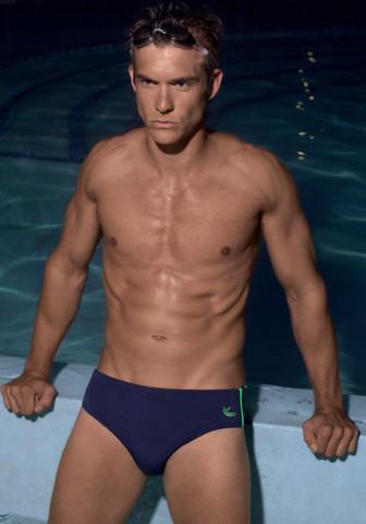 Классические мужские плавки David синего цвета