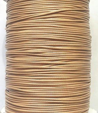 Шнур нейлон вощеный 1,0 мм бежевый 5,5 метров