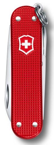 Нож-брелок Victorinox Alox Classic LE, 58 мм, 5 функций, красный123