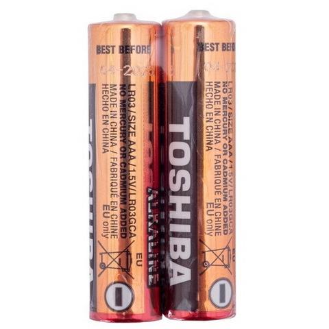 Батарейки Toshiba Economy Alkaline LR03, AAA (2/60/480)