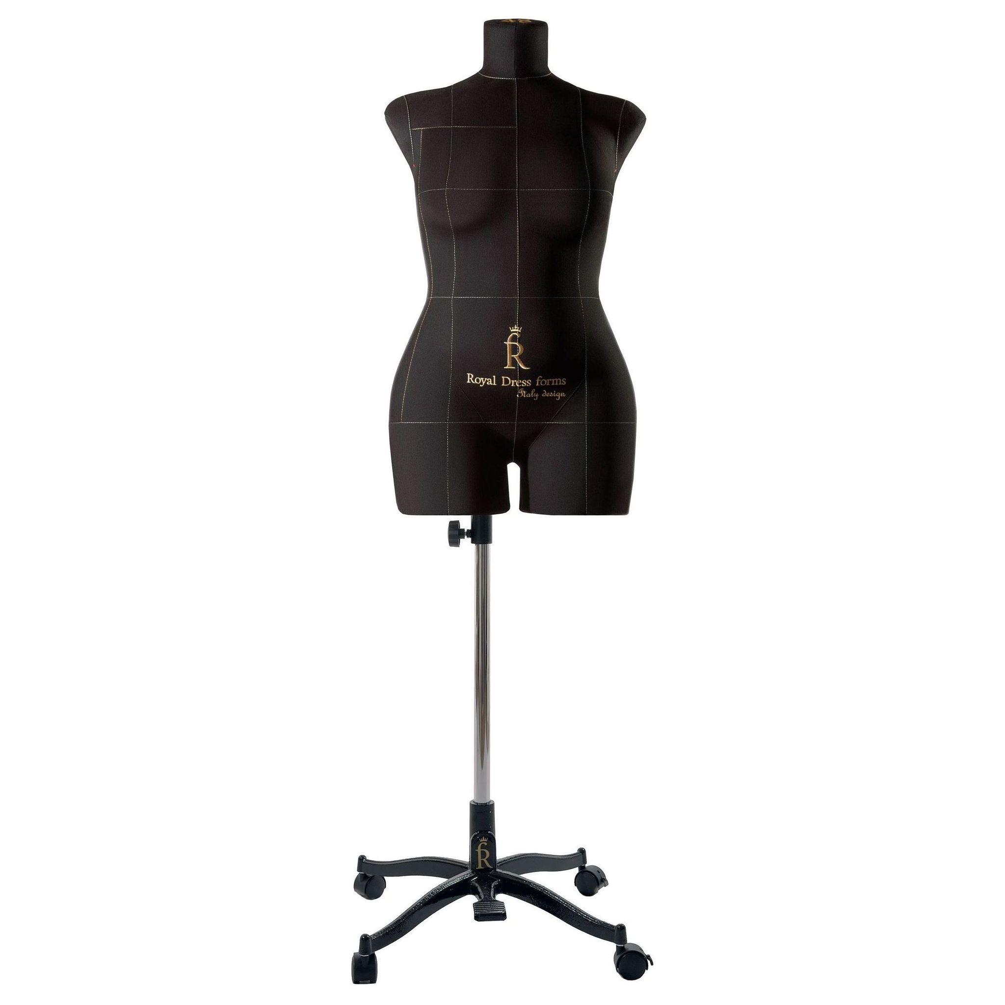 Манекен портновский Моника, комплект Премиум, размер 48, ЧерныйФото 3