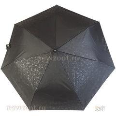 Женский зонт Три Слона L3706 автомат Эпонж черный с узорами