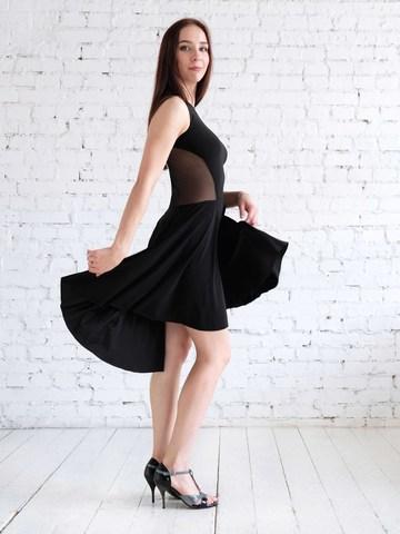 Платье для танцев с сеткой