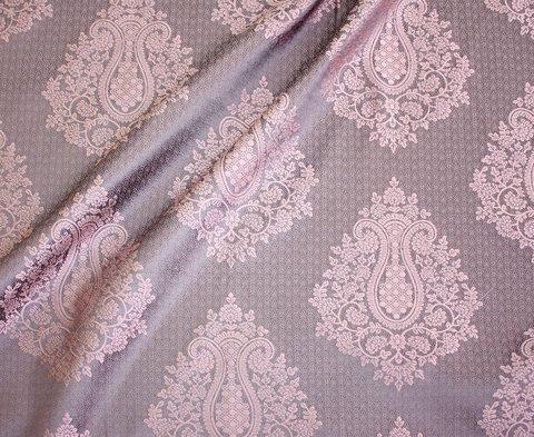 Портьерная ткань жаккард Франческа розовый