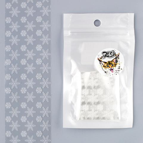 1458 Фольга переводная 4*50 см новогодняя прозрачная белая