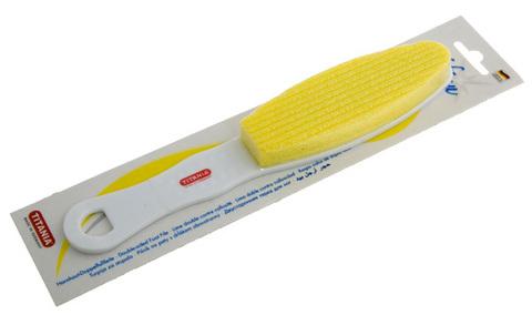 Тёрка для ног двусторонняя желтая Titania