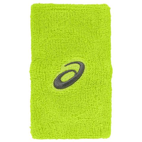 132084 0432  Напульсники Asics ASICS TERRY DOUBLE WIDE WRISTBAND зеленый