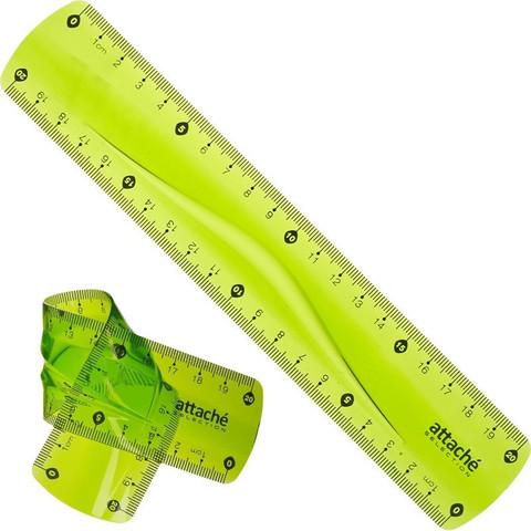 Линейка Attache Selection Flexible 20 см пластиковая супергибкая