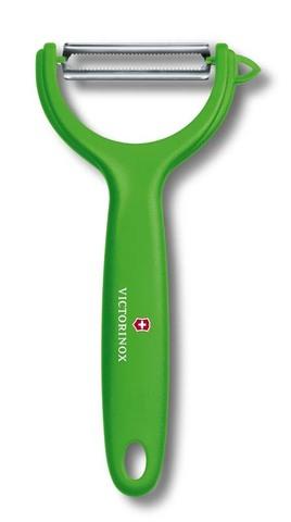 Нож для чистки томатов и киви с двусторонним зубчатым лезвием зелёный VICTORINOX 7.6079.4
