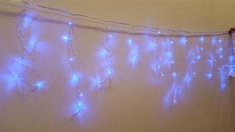 Бахрома домашняя светодиодная 3*0,5м 80LED синий