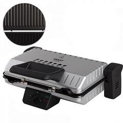 Пресс-гриль электрический DELTA LUX DL-050S серебряный