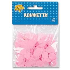 Конфетти Круги тишью Розовые 1,5 см, 10 гр, 1 уп.