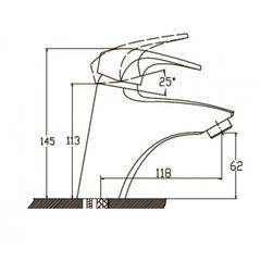 Комплект для ванной Kaiser Guss 6800К (68011+68022+стойка R1100) схема 2