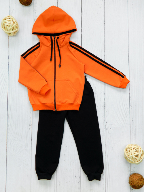 Костюм 3051, оранжево-черный