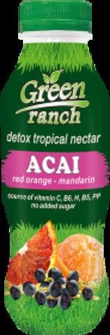 Напиток Green Ranch красный апельсин, мандарины и ягоды асаи, 0,41л. (Продальянс)