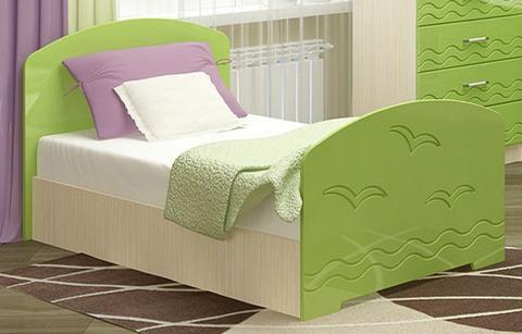Кровать Юниор-2 салатовый металлик