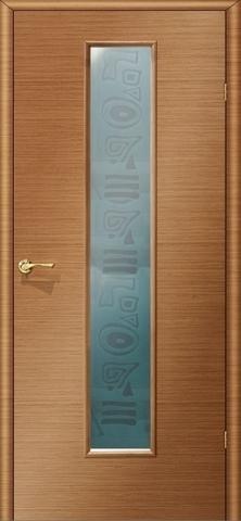 Дверь Ника 2 ПО «пескоструй» (анегри, остекленная шпонированная), фабрика LiGa