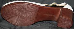 Женские летние туфли на низком каблуке Marani Magli 031 405 White.