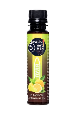 Биостимулирующий концентрат для мужчин  Erotic hard  со вкусом лимона и лайма - 100 мл.